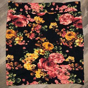 Forever 21 Floral Pencil Skirt